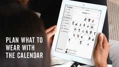 Plan your work outfits from bed with Stylebook's calendar feature #fashionapp #workclothes #organizing