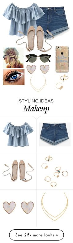 """""""Untitled #338"""" by kaitlyn-skaggs on Polyvore featuring Zara, Chicnova Fashion, Agent 18, Ray-Ban, New Look and Lana"""