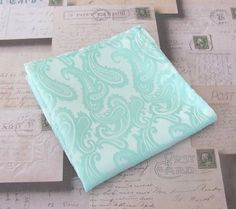 Pocket Square Mint Green Paisley Hankie by TieObsessed on Etsy