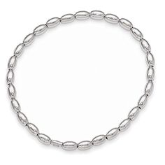 Leslies Sterling Silver Polished Beaded Stretch Bracelet Length 75 >>> Click image to review more details.