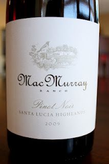 MacMurray Ranch Pinot Noir Santa Lucia Highlands 2009 - A Smooth and Succulent Saturday Splurge. $25