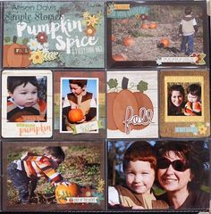 Simple Stories - Pumpkin Spice Collection - 12 x 12 Collection Kit Love Scrapbook, Scrapbook Designs, Scrapbook Sketches, Scrapbook Paper Crafts, Scrapbook Cards, Pocket Page Scrapbooking, Scrapbooking Layouts, Scrapbook Generation, Project Life Layouts