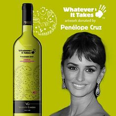 """Taste our """"Penelope Cruz"""" white wine from our limited Charity Wine Collection on www.wineonlineforyou.com"""