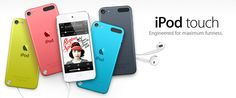 The new iPod Touch 5th Generation! Lebih tipis, ringan dan menggunakan prosesor lebih kencang lho!