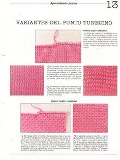 Ganchillo y crochet: variante del punto tunecino