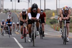 File:More than 2,400 Marines and civilians biked 56-miles through base during the Ironman 70.3 Triathlon at Oceanside, Calif., March 30, 201...