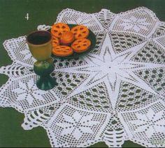 Napkin with stars.  Crochet.