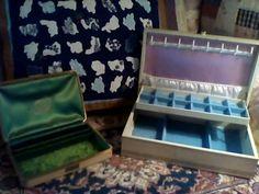 Jewelry Box Pair Mid Century Lovely Shape by AntiquesandVaria