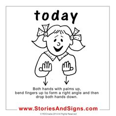 A sign language is a complete and comprehensive language of its own. It is not just some gestures which are random and used to convey a meaning. Sign language also has a set of grammar rules to go by. This language is mainly used by p Sign Language For Toddlers, Simple Sign Language, Sign Language Chart, Sign Language Phrases, Sign Language Alphabet, Learn Sign Language, Sign Language Interpreter, British Sign Language, Stories For Kids