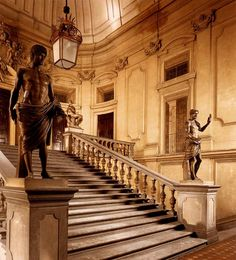 The Grand Stair at the Palazzo Corsini al Parione, Florence.