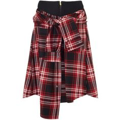 David Szeto Cunningham Red Wool Shirt Skirt ($300) ❤ liked on Polyvore featuring skirts, bottoms, shorts, shirts, red, plaid skirt, red tartan plaid skirt, red skirt, red wool skirt and red tartan skirt