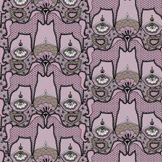 pattern horses lace