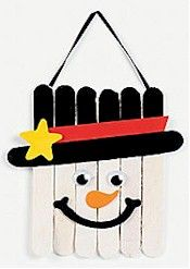 craft stick snow man I did this in 1st grade and the ornament is on my tree right now!