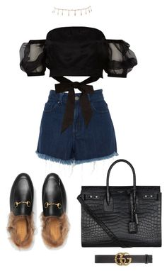 """""""Untitled #488"""" by fa-ye ❤ liked on Polyvore featuring Gucci, Amen Couture, River Island, Yves Saint Laurent and Luv Aj"""