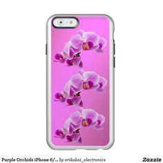 Purple Orchids iPhone 6/6s Metalic Case. Silver, gold or rose gold.
