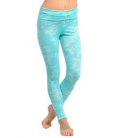 Fold Over Tie Dye Spandex Legging Pant