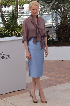 "Tilda Swinton en el photocall de ""Moonrise Kingdom"" en Cannes"