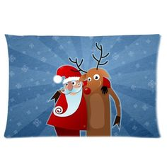 Merry Christmas Perfect Home Decoration Gift Custom Rectangle Pillow Case 16x24 one side *** This is an Amazon Affiliate link. Want additional info? Click on the image.