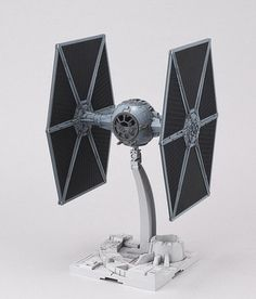 Custom built and painted 1/72 Bandai TIE fighter by OtherWorldModels on Etsy