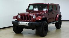 2012 Deep Cherry Red Crystal Pearl Jeep Wrangler Unlimited  | iSeeCars.com