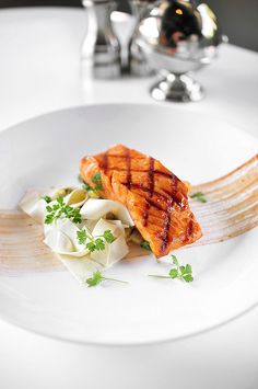Salmon with Smoked Cream Pappardelle