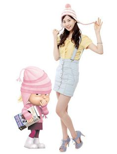 seohyun was the voice of this character in indespicable me korean version!!#seohyun,#kpop