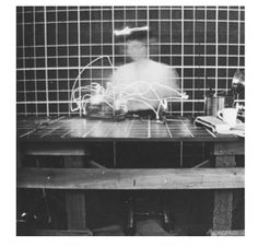 Cassie Packard- One-Dimensional Woman Motion study of a woman working in a kitchen. This is in relation to how Margarete Schutte-Lihotzky researched for the design of The Frankfurt Kitchen.