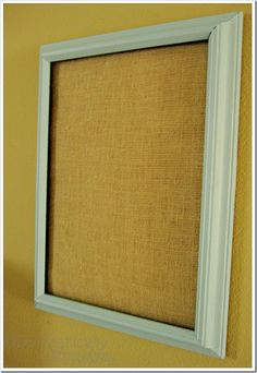 paint   diy   burlap   craft   decorating   recipe   HOW TO   furniture       Making a Burlap Memo Board  				  				    				Making a Burlap Memo Board