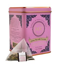 The rich flavors of Thailand are the inspiration for this tasty blend. It is a combination of green tea, lemongrass, vanilla, coconut and ginger.