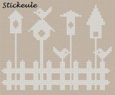 birdhouse cross stitch