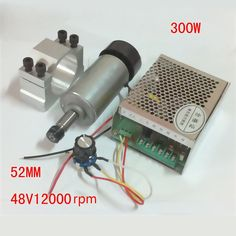 79.80$  Watch now - http://aliaqo.shopchina.info/1/go.php?t=32817903093 - 48VDC 300W 2300G/CM 0.3KW High Speed DC Motor ER11 Engraving Machine Spindle Motor + Fixed Fixture + Governor + Milling Chucks  #magazineonlinebeautiful