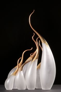 """lnop: """" Rick Eggert, Dynamic Cosmos serie Cloves and grass Pair with some more glass work """""""