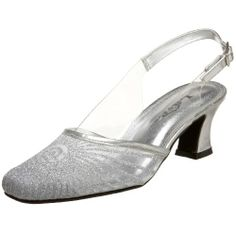 $50 Lava Women's Harmony Closed Toe Slingback,Silver,9 EE US Colorful Creations, sislver and clear low heel, close toe shoe.  casual wedding, this kind of heel holds up great in outdoor venues, won't sink into dirt or mud or uneven outdoor pavement and stones.  bridal party shoe, bridesmaids shoe  http://www.amazon.com/dp/B002VLYU3O/ref=cm_sw_r_pi_dp_SN8esb194BSHY90R