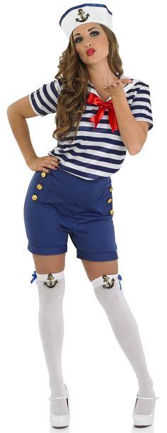 //.ebay.com.sg/itm/Sexy-. Sailor CostumesGirl CostumesAdult CostumesSailor Costume DiyCostume ...  sc 1 st  Pinterest & Sailor Girl Costume - Red White and Blue   Patriotic American ...