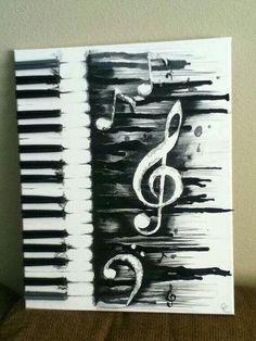 Piano pencil drawing