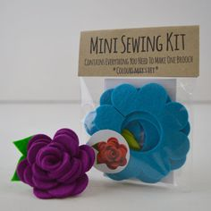 A fantastic little sewing kit to make your own stunning felt flower brooch, choice of 10 colours