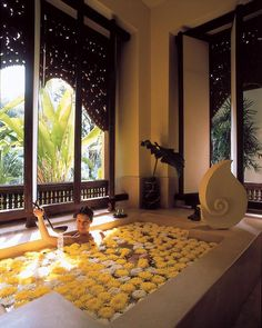 Flower petal treatment at Four Seasons Resort in Chiang Mai Thailand