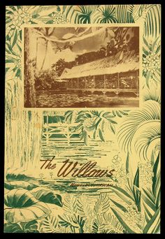 1956 lunch menu, front cover lunch menu from Willows - Honolulu, HI