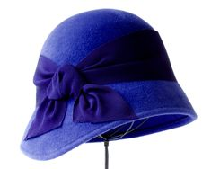 Blue Cloche Hat Women's Cloche Fall Fashion Winter Accessories Fall Hat Fall Accessories Felt Cloche Hat Downton Abbey Hat Gatsby Hat by KatarinaHats on Etsy https://www.etsy.com/listing/206386480/blue-cloche-hat-womens-cloche-fall