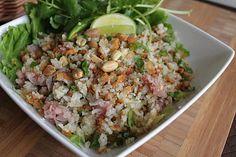 Malisa's Food Blog: Nam Khao Tod (Laotian Fried Rice Ball Salad)