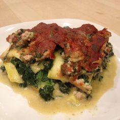 Chicken Spinach Lasagna - Fit Paleo Mom