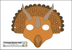 Printable Dinosaur Masks for Prehistoric Play | Wildlife Fun 4 Kids