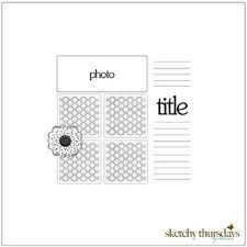 clean and simple scrapbooking sketches - Google Search