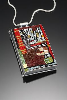 Cynthia Toops works in micro glass mosaic.