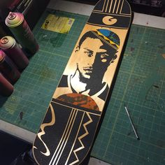 Steph Curry skateboard  #skateboard #art #goldenstatewarriors #nba #stephencurry #basketball #dgk #dope #artwork #skateboardart