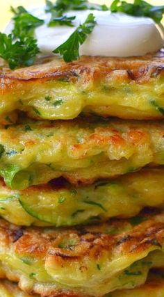 Crispy Cheesy Zucchini Fritters are a quick and easy family favorite. These fritters are over the top with crispy edges and buttery Gouda cheese. Side Dish Recipes, Vegetable Recipes, Side Dishes, Gouda Cheese Recipes, Zucchini Fritters, Broccoli Fritters, Cauliflower Fritters, Corn Fritters, Cooking Recipes