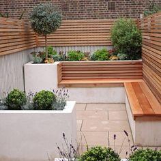 small narrow garden side of house - Google Search