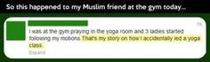funny yoga class