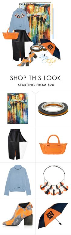 """Rainy Etude: Fall Sweater"" by vittorio-1 ❤ liked on Polyvore featuring Rainbow, Jil Sander, Roksanda, Louis Vuitton, iHeart, One Button, Kim Kwang and Coopersburg"
