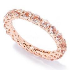 14 kt Rose Gold Morganite Eternity Band Ring Size 9.  Do you guys think this would look good paired with a single solitare ring?